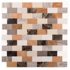 "Flash Brown Medley 12"" x 12"" Mosaic Tile"