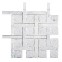 "Foxwood Manor 10"" x 10"" Marble Mosaic Tile"