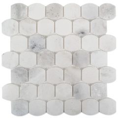 "GFM610P Polished 13"" x 13"" Button Hex Mosaic Tile"