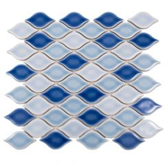 Lazy Lagoon Handcrafted Arabesque Pattern Mosaic Tile
