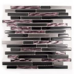 Materialized Glass Linear Mosaic Tile