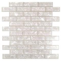 "Misty Bay 12"" x 12"" Glass & Stone Mosaic Tile"