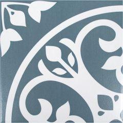 """Nouveau Encaustic 8"""" x 8"""" Mosaic Tile"""