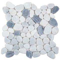 "Tumbled Pebbles 12"" x 12"" Mosaic Tile"