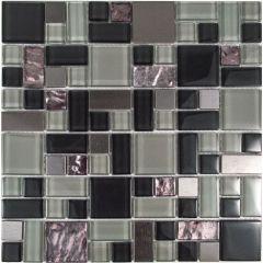Satin Sapphire Glass Mosaic Tile