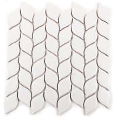 "Crackled Leaf 12"" x 12"" Porcelain Mosaic Tile"