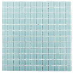 "Whisper Blue 11"" x 11"" Glass Mosaic Tile"