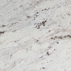 "Andromeda White 110"" Prefabricated Granite Kitchen Countertop"