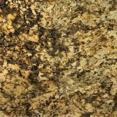"Namib Gold 110"" Prefabricated Granite Kitchen Countertop"