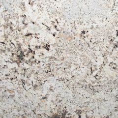 "Namib White 110"" Prefabricated Granite Kitchen Countertop"