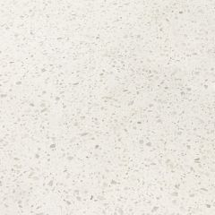 "Sparkling White 110"" Prefabricated Quartz Kitchen Countertop"