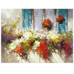 Window Box Acrylic Painting