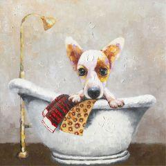 Bath Time Acrylic Painting