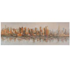 Reflections of the City Acrylic Painting