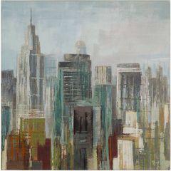 City Shapes Acrylic Painting