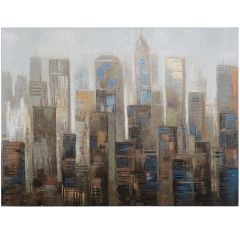 City in the Chill Acrylic Painting