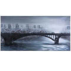 Fog Over the City Acrylic Painting