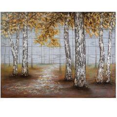 Gold Gloom Mixed Media Acrylic Painting