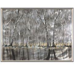 Dark Days Mixed Media Acrylic Painting