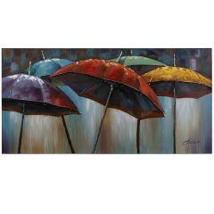 Umbrellas Acrylic Painting