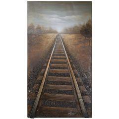 Vanishing Into the Distance Acrylic Painting