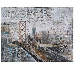 Across the Bridge Acrylic Painting