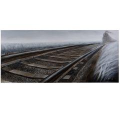 Rip Track Acrylic Painting