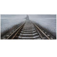 Bending Iron Acrylic Painting