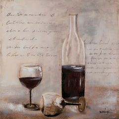 Bottle of Rich Red Acrylic Painting