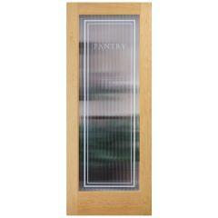 Reeded Glass Pine Pantry Door
