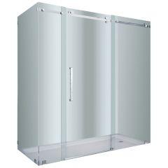 """72"""" Chrome Frameless Shower Enclosure"""