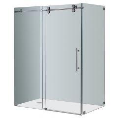 """60"""" Chrome Sliding Shower Enclosure"""
