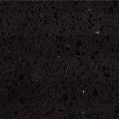 Sparkling Black Prefabricated Quartz Kitchen Countertop