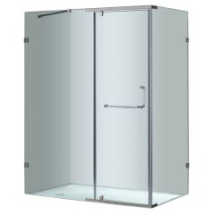 "60"" Semiframeless Shower Enclosure"
