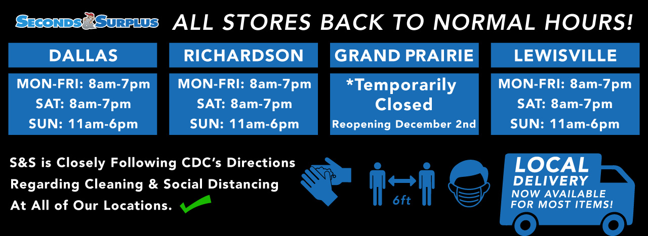 WE'RE BACK TO NORMAL HOURS!