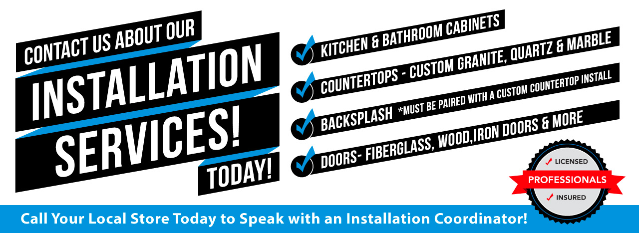 Ask About Our Installation Services!