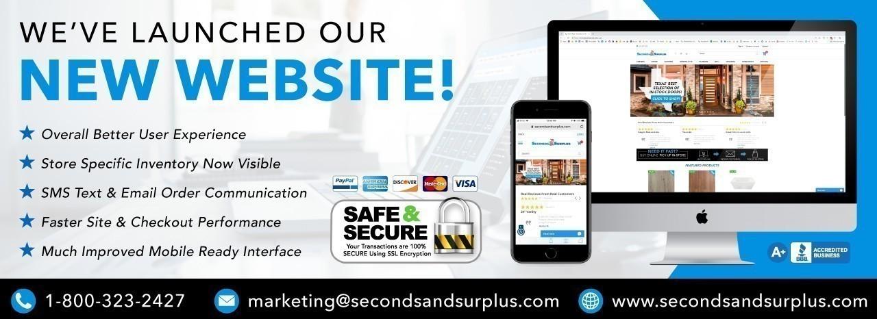 New Website Launch Slider