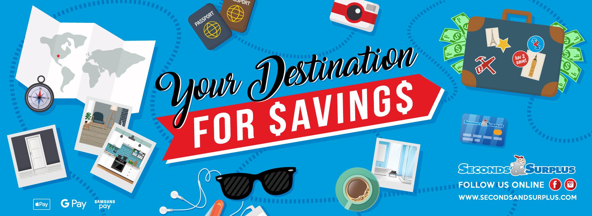 Your Destination for Savings!