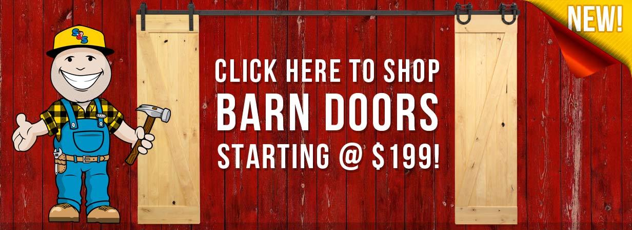 Barn Doors In-Stock Now!