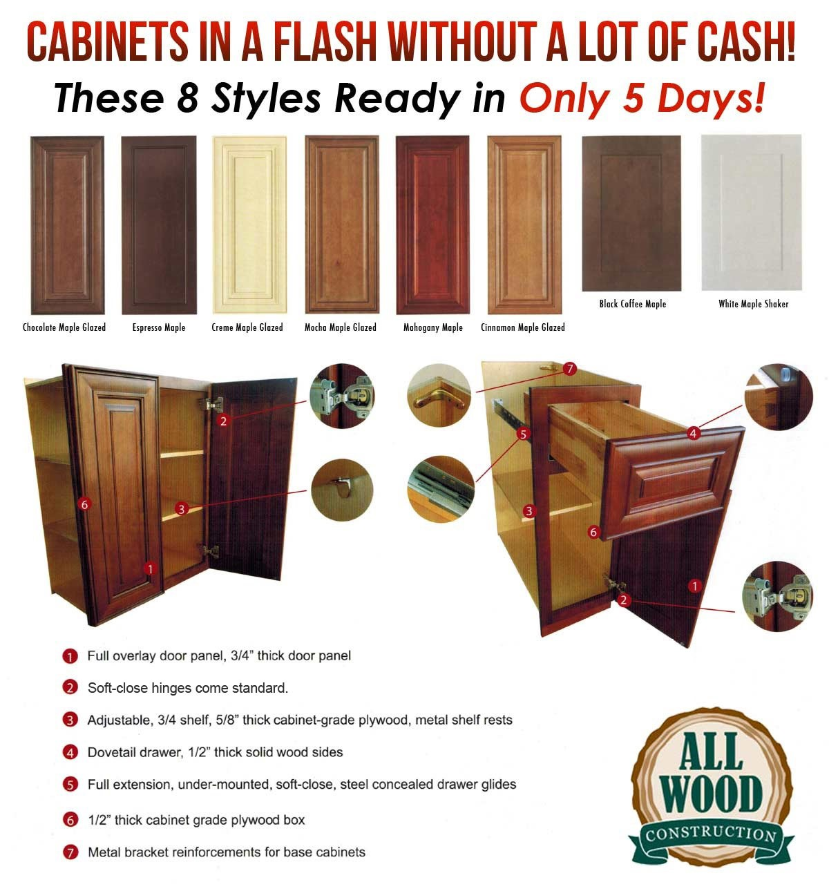 Cabinets in a Flash!