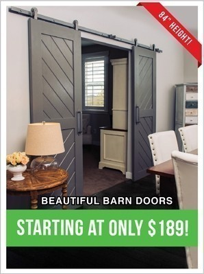 Beautiful Barn Doors from $189!