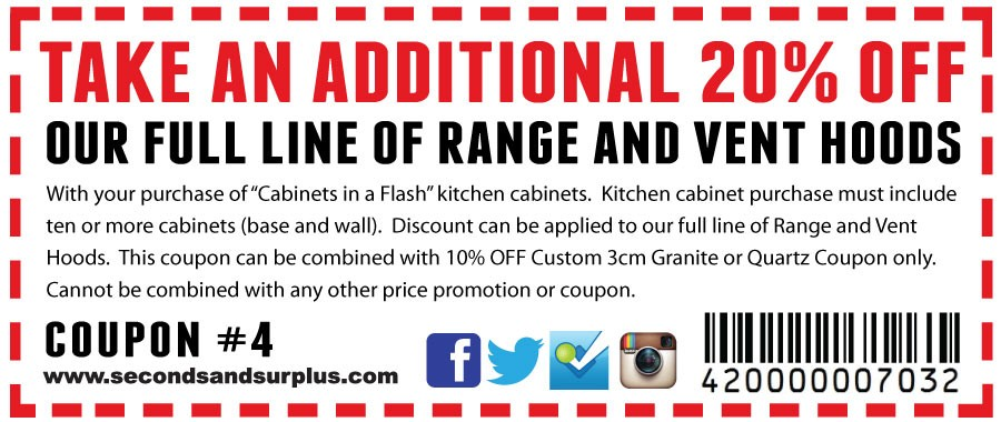 20% Off Range and Vent Hoods!
