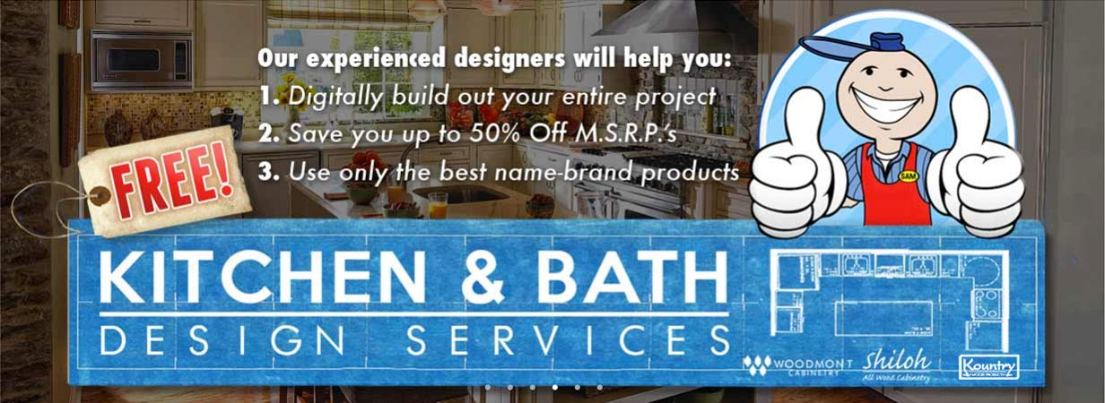 FREE Kitchen + Bath Design Services!